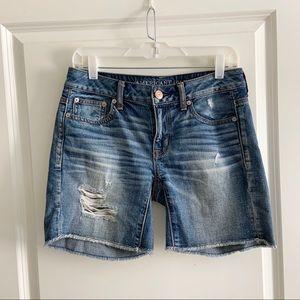 American Eagle 0 Cut Off Distressed Jean shorts